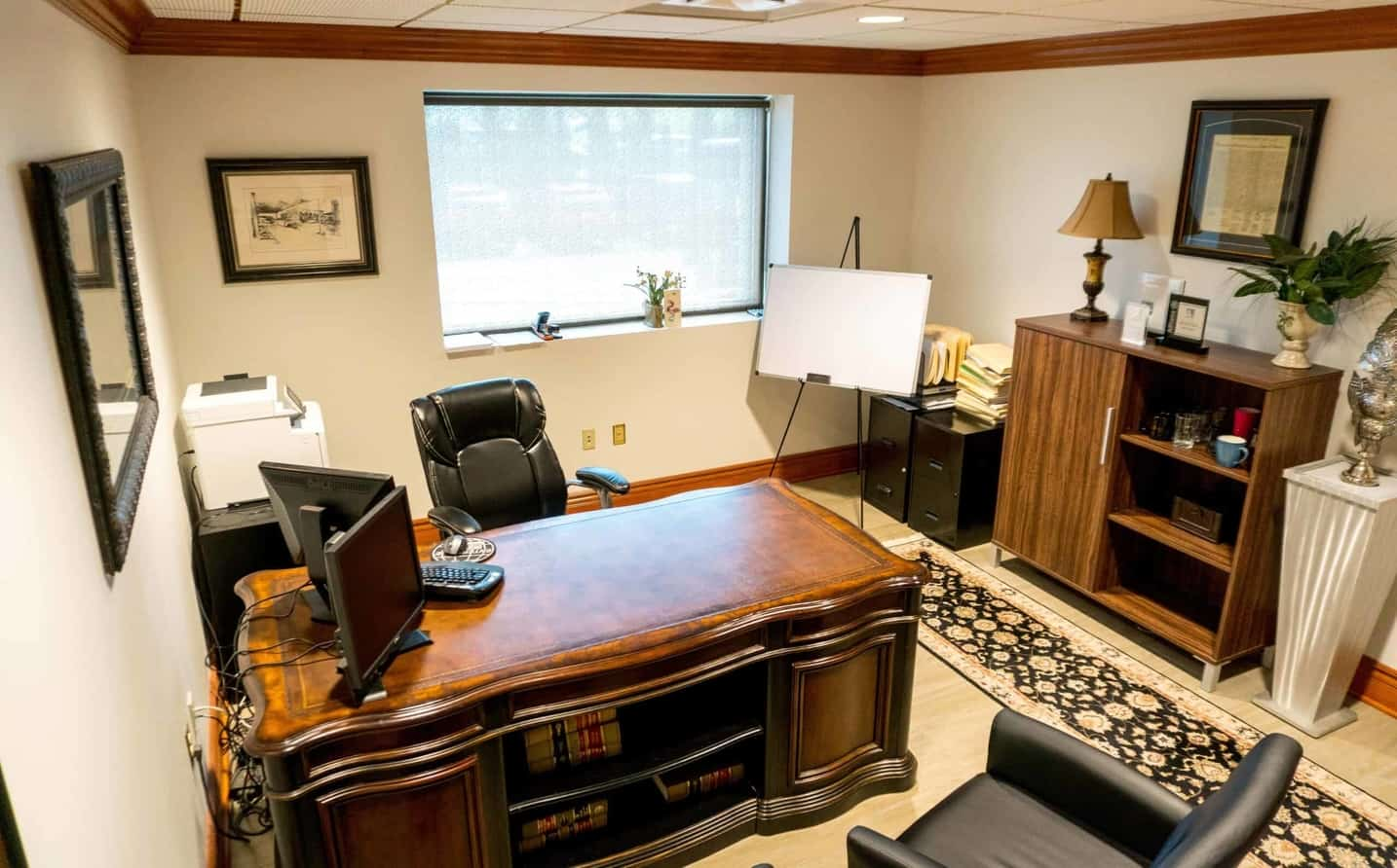 A beautiful private office that you can switch to